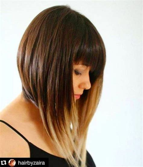 short ombre hair with bangs 21 totally chic short bob haircuts hairstyles with bangs