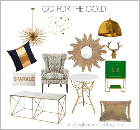 metallic home decor go for the gold and silver bronze copper making