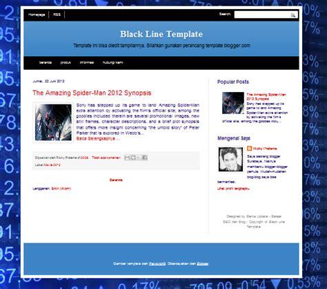 editable templates for blogger template blog seo friendly black line