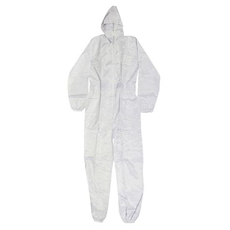 home depot paint jumpsuit large white polyester with carbon fiber thread spray suit