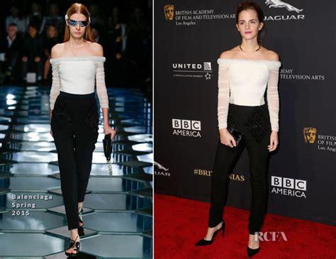 Catwalk To Carpet Bafta Awards by Watson In Balenciaga Bafta Los Angeles Jaguar