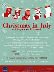 christmas in july at windjammers restaurant north