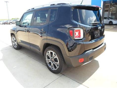 jeep suv 2016 black zaccjadt4gpc83821 2016 jeep renegade limited fwd suv i 4