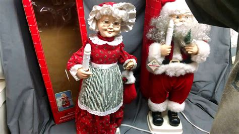 3 ft animatedmrsclaus vintage 1996 elco 24 quot santa mrs claus animated illuminated figures