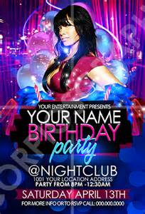 scorpiosgraphx birthday party flyer template