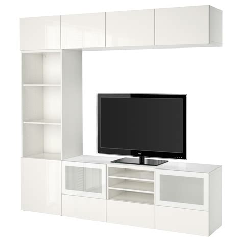 besta glass door best 197 tv storage combination glass doors white selsviken