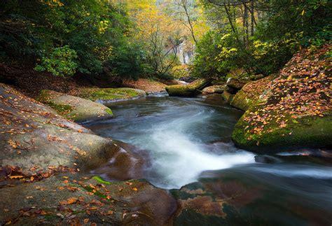 Landscape Photography Raleigh Nc Carolina Mountain River In Autumn Fall Foliage