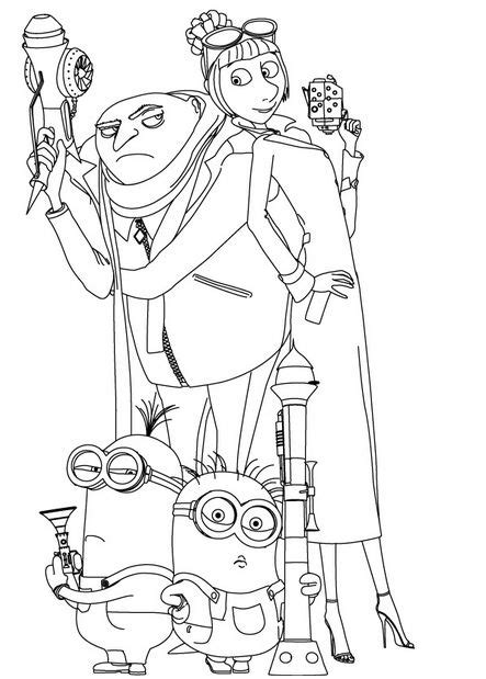 despicable me coloring pages 6 coloring kids