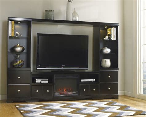 Shay Large Entertainment Unit with TV Stand w/ Fireplace