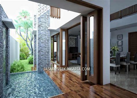 desain rumah 4 kamar luas 330 m2 jasa arsitek jakarta desain rumah luas 450 m2 milik bu devi di batam ide buat