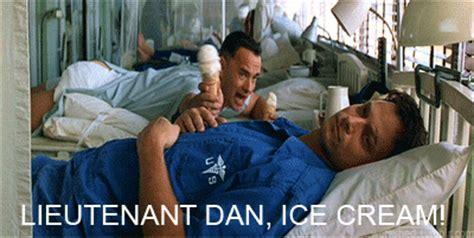 Lieutenant Dan Ice Cream Meme - thief steals large cooler of ice cream as store clerk