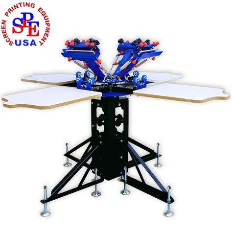 4 color screen printing press 4 station 4 color silk screen printing press t shirt