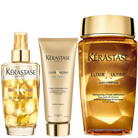 Kerastase Exilire Ultime 100ml k 233 rastase elixir ultime huile lavante bain 250ml elixir ultime fondant conditioner 200ml and