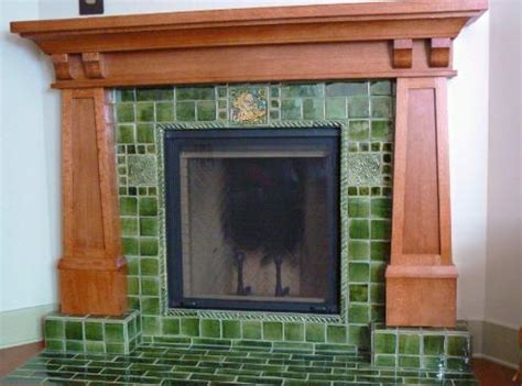 bungalow fireplace arts crafts bungalow fireplace verdant tile