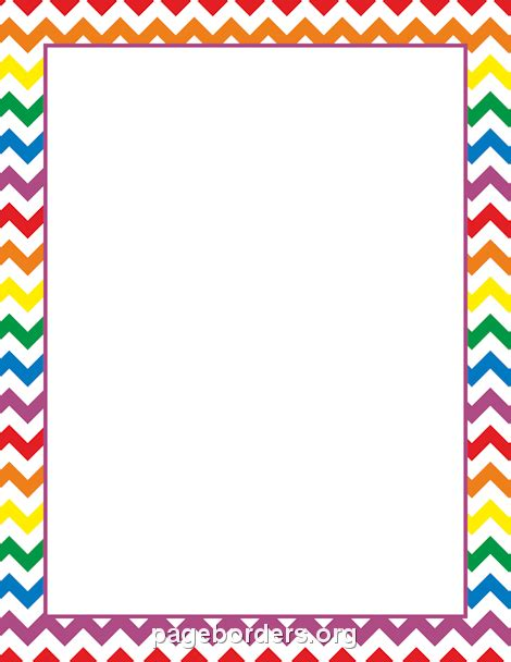 Rainbow Chevron Border Intensamente Pinterest Chevron Border Template