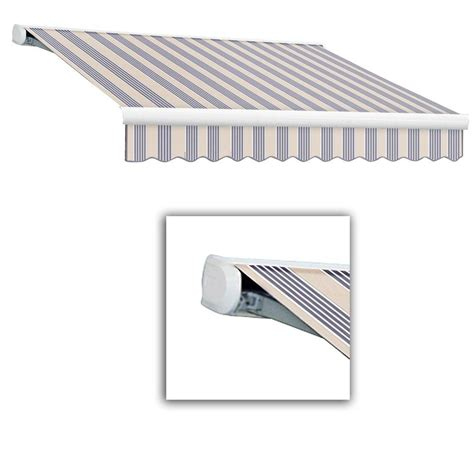 manual retractable awning awntech 12 ft key west full cassette manual retractable
