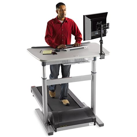 Small Treadmill Desk Tr800 Dt7 Treadmill Desk Lifespan Workplace