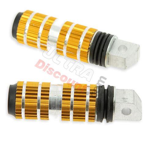 pedane minimoto pedane poggiapiedi tuning in color oro typo2 per pocket