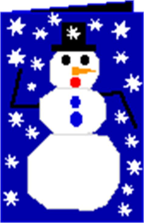 make a snowman card enchanted learning software