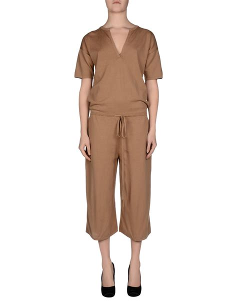 Brown Jumpsuit by Stefanel Jumpsuit In Brown Lyst