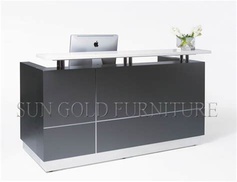 modern high glossy l shape glass top and wooden office