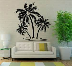 palm tree decor for bedroom palm tree wall decal vinyl stickers nature beach sea