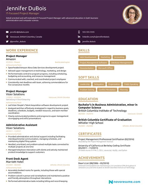 Project Manager Resume by Project Manager Resume 2018 Exle Guide