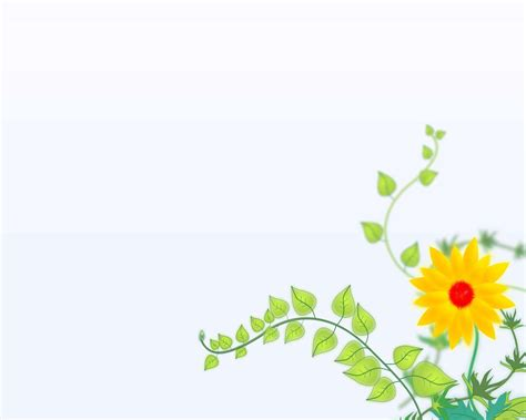 Sun Yellow Flower Backgrounds Presnetation Ppt Flower Backgrounds For Powerpoint Www Pixshark