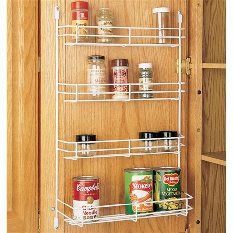 Kitchen Cabinet Door Shelves Cabinet Organizers Kitchen Cabinet Wire Door Mount Spice Rack By Rev A Shelf Kitchensource