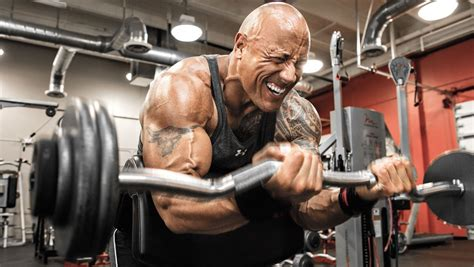 dwayne johnson bench train like the rock dwayne johnson s arms routine