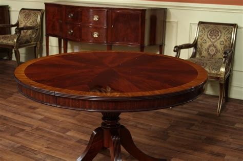 48 round dining 48 round dining table with leaf round mahogany dining ebay