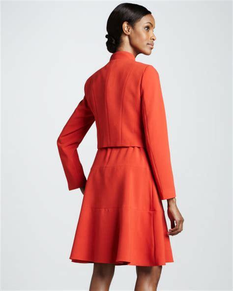 Set Cropped Jacket A Line Dress albert nipon dress with bolero jacket set