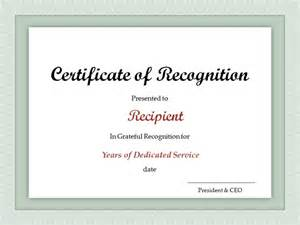 certificate for years of service template service award certificate template