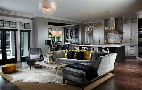 black l shades living room transitional with beige rugs