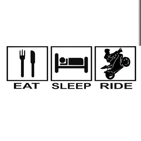 Eat Sleep Ride That S My Life Motorcycle Ride