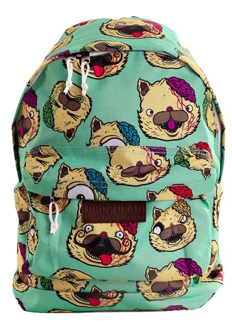 drop dead drop dead smiles lightgreen backpack impericon