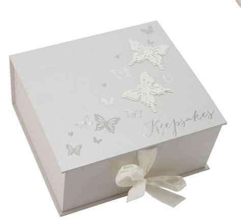 Engraved Vase Butterfly Keepsake Memory Box New Baby Engagement