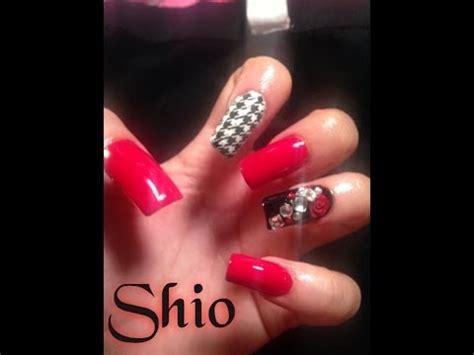imagenes de uñas rojas con blanco u 241 as rojo con negro youtube