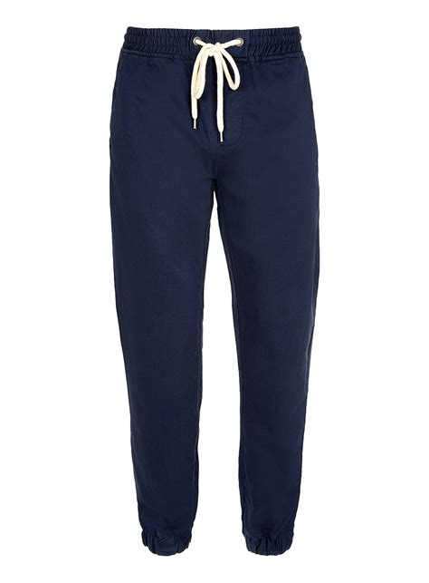 Jogger Navy 27 30 toms navy smart twill jogger in blue for lyst