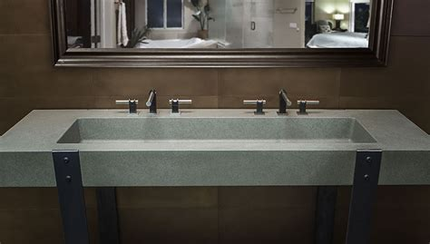 concrete sinks for the restaurant and public restrooms by