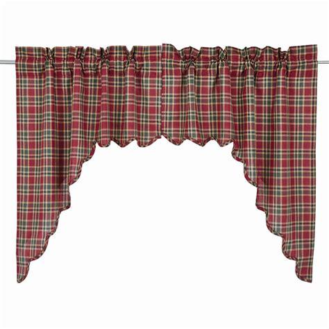 plaid swag curtains graham plaid swag curtains pair www