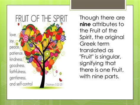 7 fruits of the spirit fruit of the holy spirit