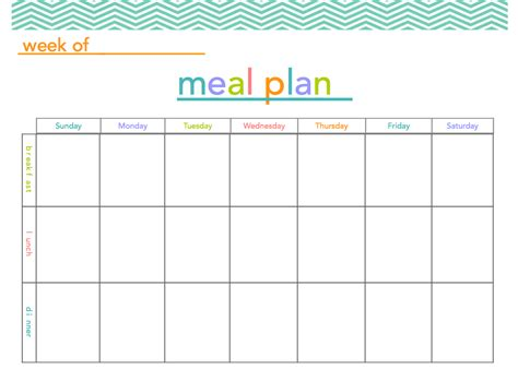 free printable planner design free meal plan printable makes meal planning a little