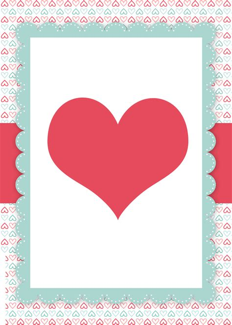 valentines day cards template free blank invitations search results
