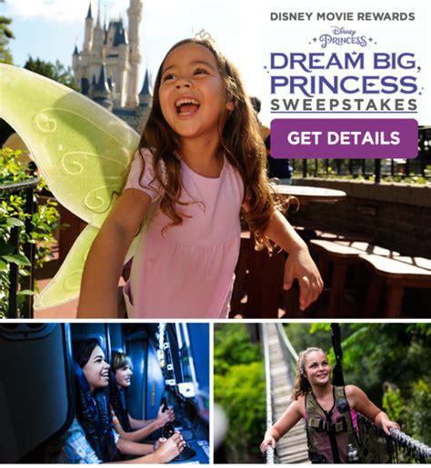 Disney Princess Sweepstakes - dream big princess sweepstakes from disneymouseplanning