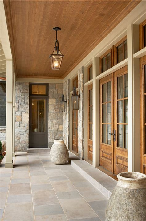 Exterior Porch Doors Lake House With Transitional Interiors Home Bunch