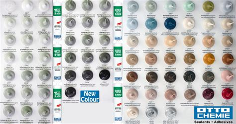 what color is silicon otto chemie ottocoll adhesives and ottoseal coloured