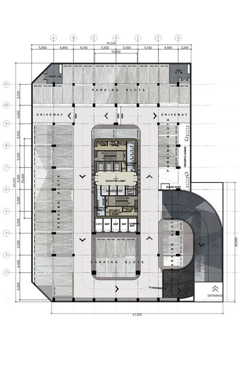 office tower floor plan basement plan design 8 proposed corporate office