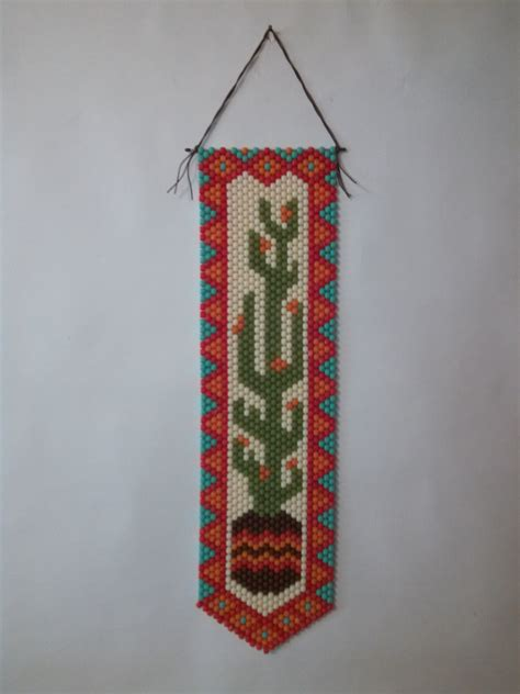 beaded banners cactus beaded banner