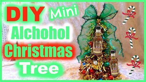 diy alcohol bottle christmas tree gift idea youtube